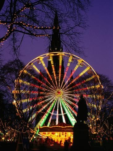 Scott Monument And Christmas Ferris Wheel In Princes Street Gardens Edinburgh United Kingdom Photographic Print Jonathan Smith Art Com In 2020 Scott Monument Edinburgh Christmas Winter Wonderland Edinburgh