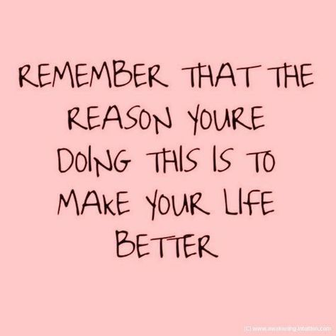 So true!Whether it's a fitness journey, a new project, or a new productive habit, you've started it to make your life better.  Don't give up;everything seems difficult and unachievable at the...