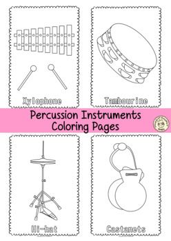 Musical Instruments Coloring Pages Distance Learning Tpt Musical Instruments Coloring Pages Instruments