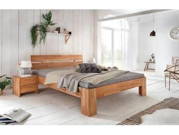 Alice 2 Doppelbett 160x220 Uberlange Kernbuche Massiv Furniture