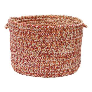 """Colonial Mills, Inc. - Catalina, Fireball Utility Basket, 18""""X12"""" - Material: 100% Polypropylene Construction: Braided  Features: Stain/Fade Resistant, Made in USA. Could use variegated yarn around laundry line cord...wouldn't be AS sturdy but could work just the same if you pulled the yarn tight or used some sort of cord instead."""