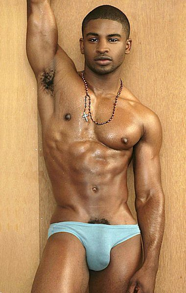Hung gay black man