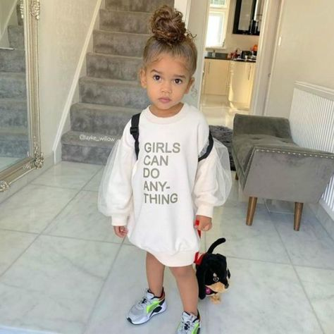girls can do anything dress - White / 1 2Years