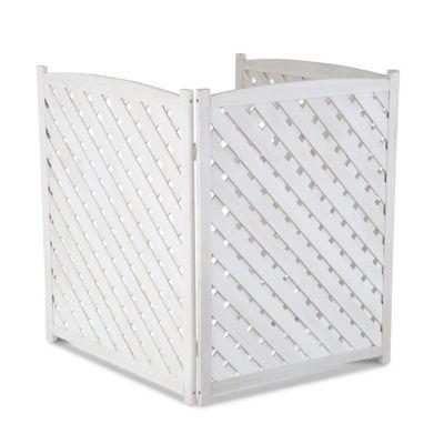 Wood Lattice Air Conditioner Screen 38 1 4 H Improvements Air Conditioner Screen Air Conditioner Cover Outdoor Outdoor Privacy