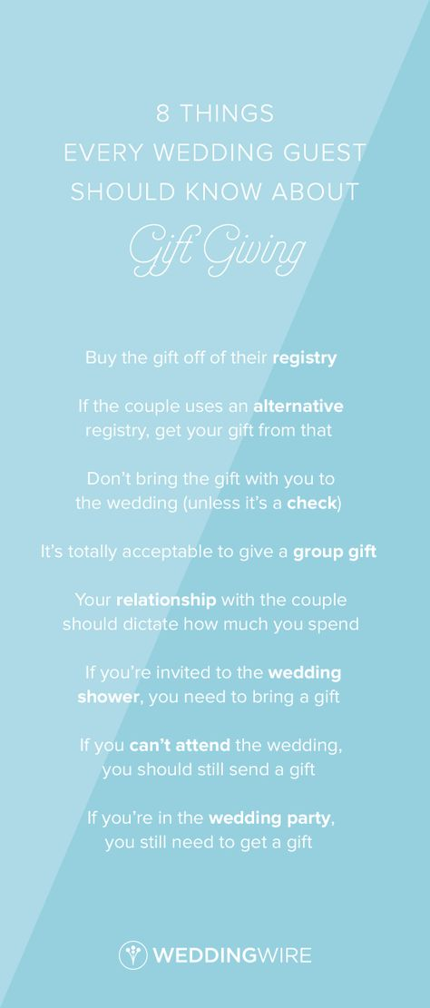 8 Things Every Wedding Guest Should Know About Gift Giving Wedding
