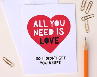 Discover Boyfriend Card Etsy Cards For Boyfriend Cards All You Need Is Love