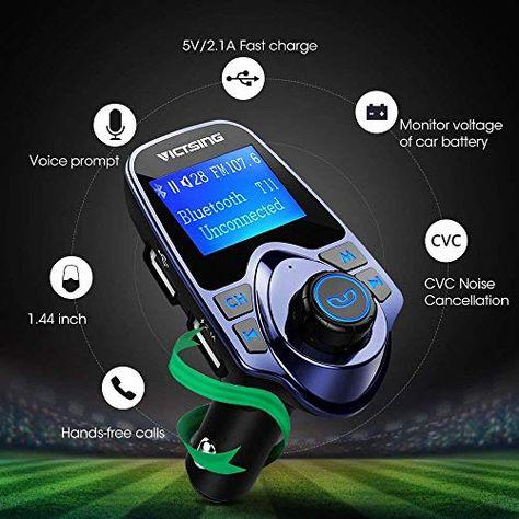 VicTsing Bluetooth FM Transmitter for Car Wireless Bluetooth Radio ...