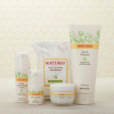 Burt S Bees Night Cream For Sensitive Skin 1 8oz Moisturizer For Sensitive Skin Sensitive Facial Cleanser Daily Face Moisturizer
