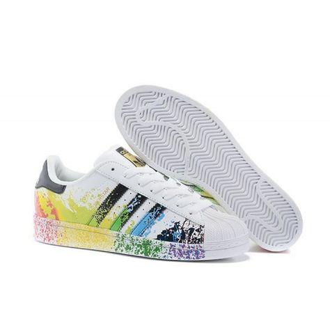 100% de satisfacción bastante baratas boutique de salida Bambas Hombre/Mujer Adidas Originals Superstar Pride Pack Blancas ...