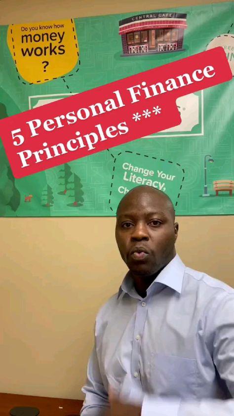 5 good personal finance principles!