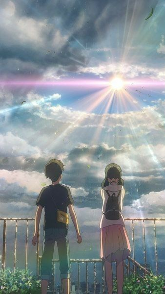 Anime World Anime Scenery Anime Scenery Wallpaper Weathering With You Anime Anime world iphone wallpaper