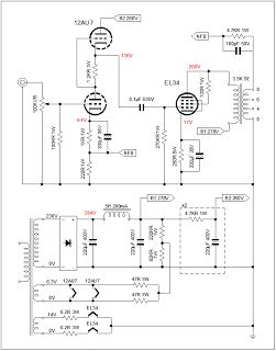 Schematic - Heathkit WA-P2 Tube Amplifier @ AmpsLab com | Boutique
