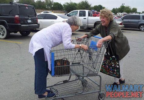 Old People Having Fun At Walmart