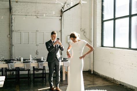 Image 20 - David + Jenna: A minimalist warehouse wedding in Real Weddings.