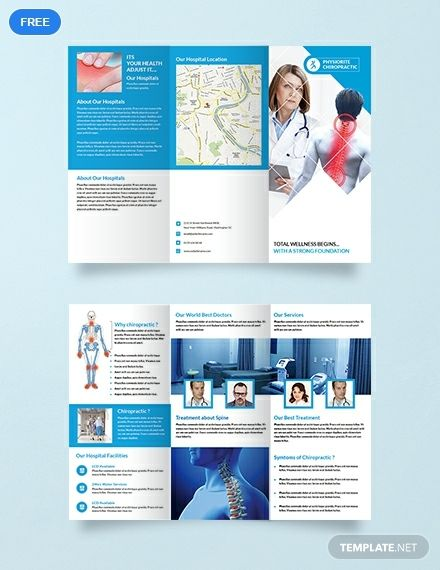 Free Chiropractic Tri Fold Brochure Template Word Doc Psd Indesign Apple Mac Pages Illustrator Publisher Brochure Design Template Brochure Template Trifold Brochure Template
