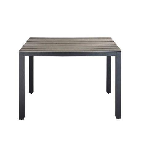 Table de jardin en aluminium gris L 104 cm | Products | Mesas jardin ...
