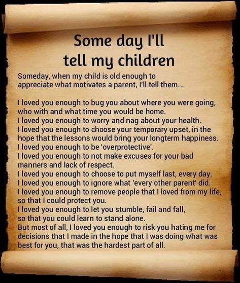 Someday I Will Tell My Children