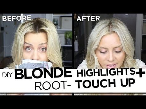 Diy Blonde Highlights And Root Touch Up Tutorial My Updated