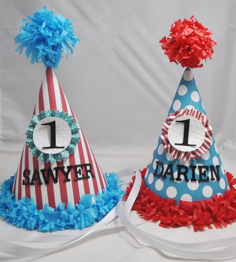 Thing 1 And 2 1st Birthday Party Hats By PartyDecorandMoore