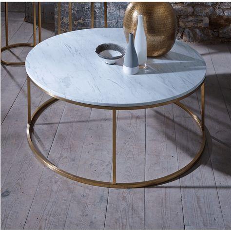 Slimline Retro Marble With Brass Furniture Range Online
