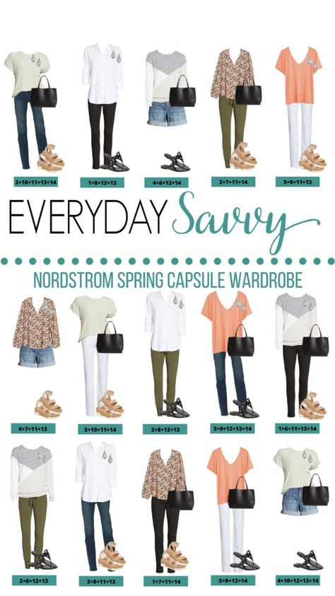 Nordstrom Spring Capsule Wardrobe Outfit Ideas