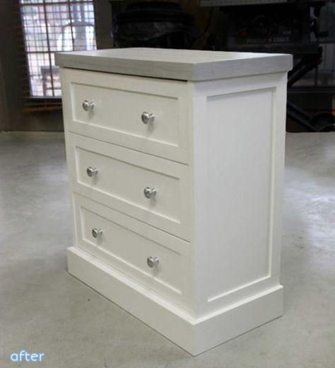 White Gray Ikea Rast Dresser Makeover In 2020 Ikea