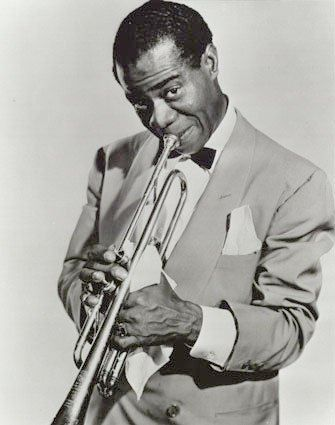 Picture of Jazz Great Louis Armstrong in his earlier years