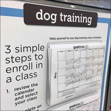 Petco Dog Training Calendar Entry Sign Dog Training Dog