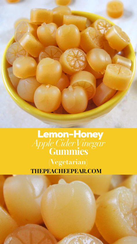 These Lemon-Honey Apple Cider Vinegar Gummies are great for everyone in the family. From the little ones to the adults everyone can indulge in them. Apple Cider Vinegar has many health benefits and it does wonders for our gut health. Honey Apple Cider Vinegar, Apple Cider Vinegar Benefits, Apple Juice Benefits, Apple Cider Vinegar For Weight Loss, Apple Cider Vinegar Cleanse, Matcha Benefits, Coconut Health Benefits, Healthy Snacks, Healthy Recipes