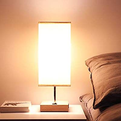 Amazon Com Bedside Usb Table Lamps For Bedroom Usb Charging Port Wood Nightstand Lamp Desk Lamp For Li Nightstand Lamp Side Table Lamps Bedroom Night Stands