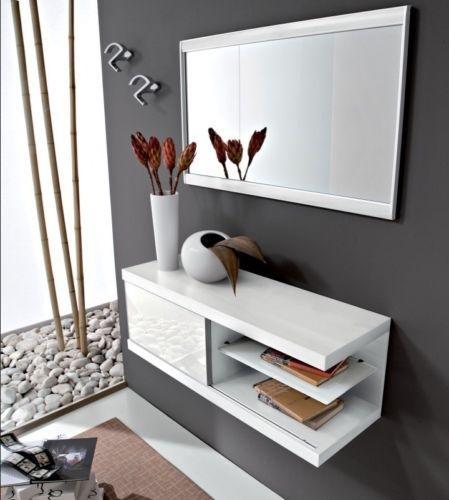 Specchio Per Ingresso Moderno.Dettagli Su 1 Mobile Ingresso Moderno Kelly Consolle Anta