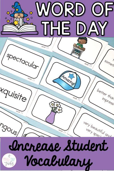 Word of the Day - A Teeny Tiny Teacher