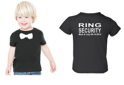Personalized Ring security shirt Ring Bearer shirt tshirt bowtie tee wedding attire