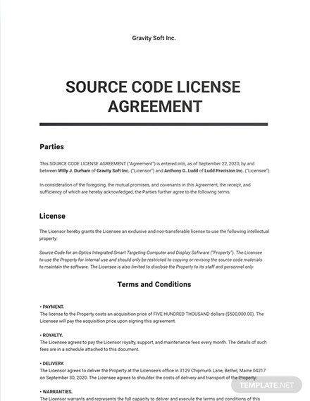 67 Free Software Agreement Templates Edit Download Template Net Agreement Word Doc Templates