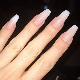 Ballerina Is A New Nail Shape Trend You Re Going To See Everywhere Different Nail Shapes Acrylic Nail Shapes Squoval Nails