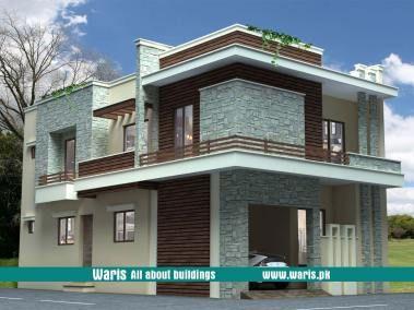 Waris House 5 Marla 3d View Elevation 25x50 In Gujranwala