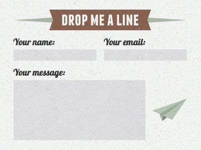 50 Examples of Creative Contact and Web Form Designs - examples of feedback forms