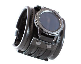 Samsung Galaxy Armband Gear S3 Frontier Classic Leder Etsy Samsung Gear S3 Frontier Watch Bands Leather Straps