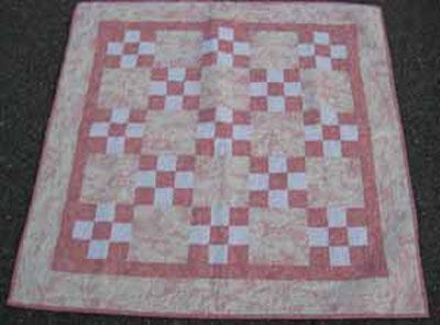 Baby Girl Toile Quilt