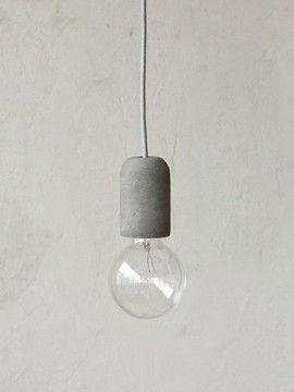 Broste Copenhagen ペンダントランプ Gerd シリンダー グレー コンクリートランプ 玄関 ブラケットライト 電球アート