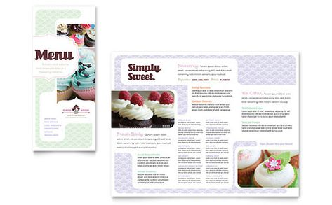 Bakery \ Cupcake Shop - Menu Template Design Sample menu design - menu design template