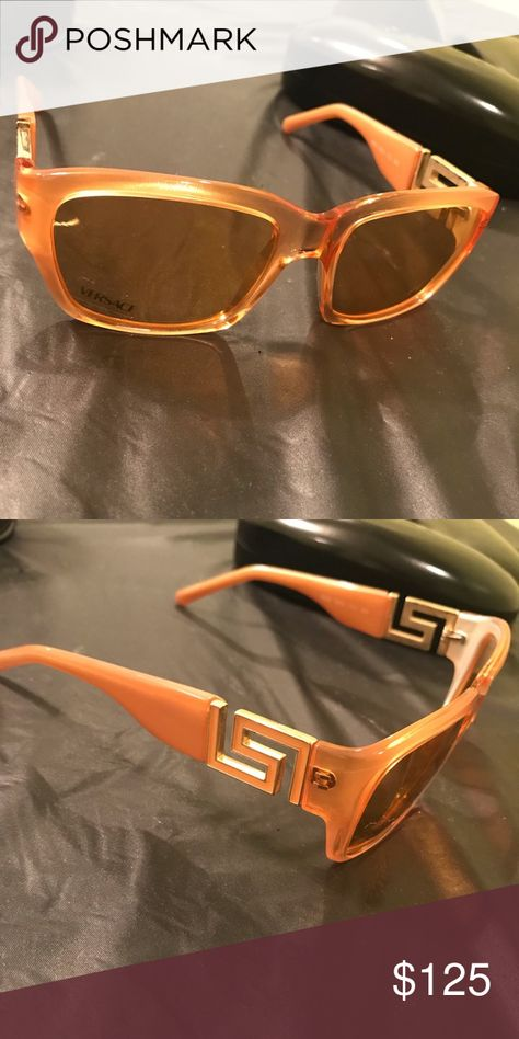 2c29d49dc8c0 Women s sunglasses Peach colored Vintage Versace sunglasses!! Authentic. No  case included. Worn once! Versace Accessories Glasses