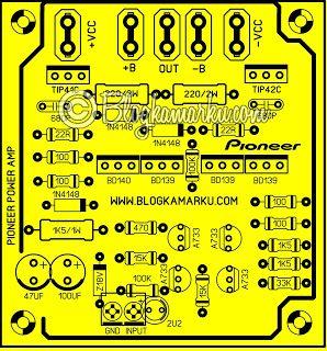 Pioneer Amplifier Vintage Pcb Layout Clone Amplificador Caseiro