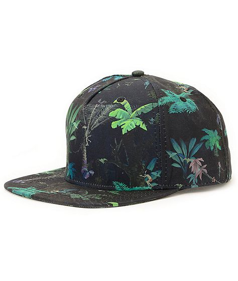 5bf073be2df The Neff Jungle Book black snapback hat is a wild new look that every hat  love needs in their collection. Grab the iconic all-over floral Jungle Book  print ...