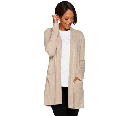 Barefoot Dreams Chic Lite Essential Long Cardi with Pockets