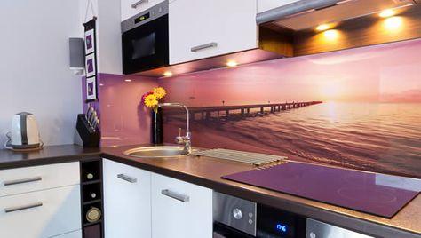 Custom Printed Glass Splashback - by Seein uv Pinterest - küche wandpaneele glas
