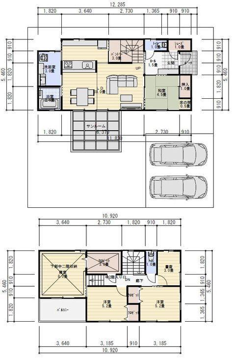間取り 34坪 4ldk 蔵収納 中二階 Craftsman Floor Plans Floor