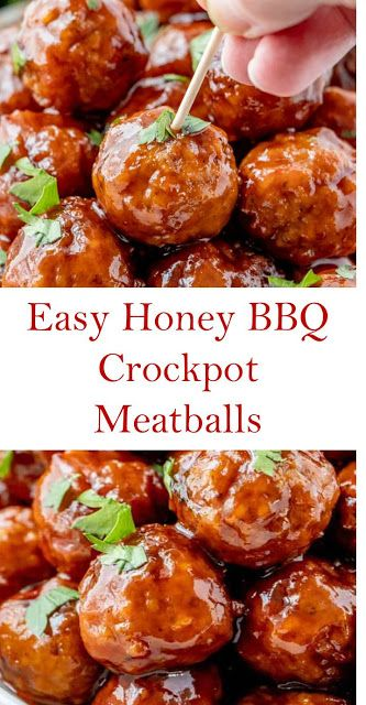 Honey BBQ Crockpot Meatballs Easy Honey BBQ Crockpot Meatballs Quick and easy to prepare the Crockpot Honey BBQ Meatballs was min. Easy Crockpot Meatballs, Meatballs And Gravy, How To Cook Meatballs, Meatball Crockpot Recipe, Best Meatballs, Grape Jelly Meatballs, Slow Cooking, Frozen Meatball Recipes, Crockpot Recipes