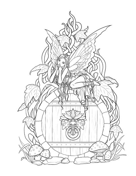 Fairy Coloring Pages For Adults – Coloring Pictures adult Fairy Coloring Pages, Printable Adult Coloring Pages, Coloring Pages To Print, Coloring Pages For Kids, Coloring Books, Kids Coloring, Coloring Pages For Adults, Free Coloring, Coloring Sheets