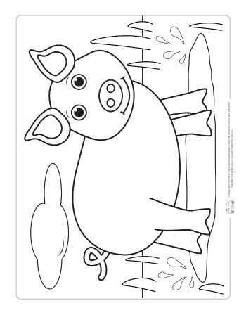 Farm Animals Coloring Pages For Kids Itsybitsyfun Com Farm Animal Coloring Pages Animal Coloring Pages Preschool Coloring Pages